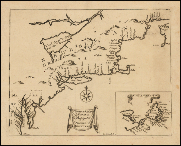 74-New England, Mid-Atlantic and Virginia Map By Henri Justel