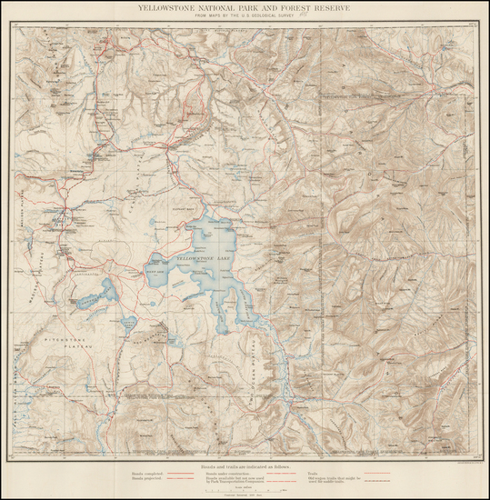 3-Rocky Mountains and Wyoming Map By U.S. Geological Survey