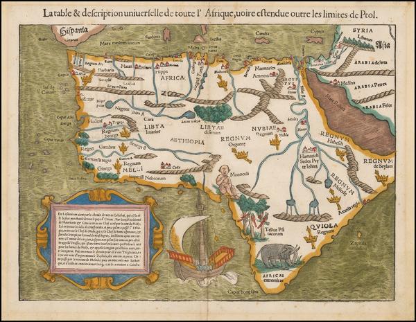 97-Africa Map By Sebastian Munster
