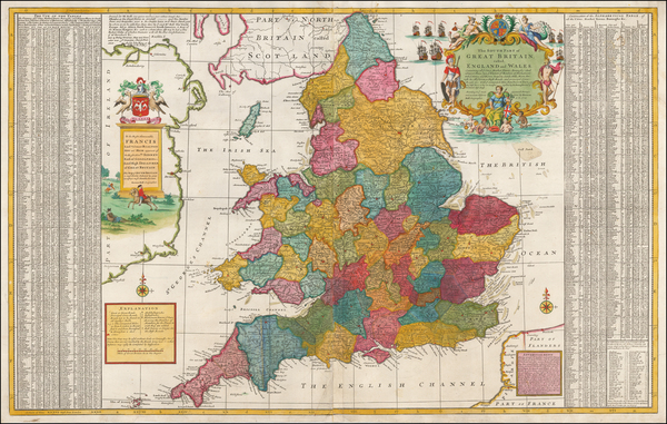 93-England Map By Herman Moll