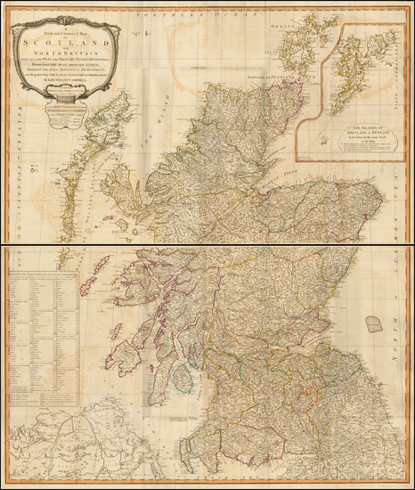 68-Scotland Map By Richard Holmes Laurie  &  James Whittle