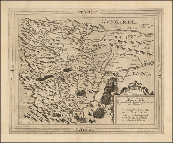 55-Balkans and Croatia & Slovenia Map By Cornelis de Jode