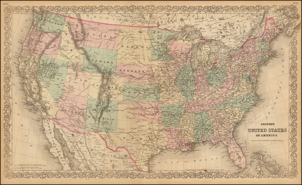 68-United States Map By G.W.  & C.B. Colton
