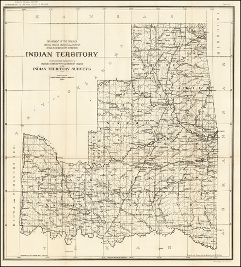 70-Plains and Oklahoma & Indian Territory Map By United States Department of the Interior