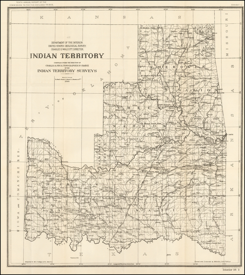 29-Oklahoma & Indian Territory Map By United States Department of the Interior
