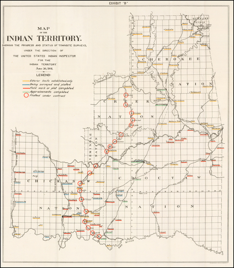 71-Oklahoma & Indian Territory Map By United States Department of the Interior