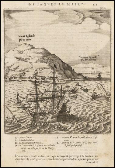 84-Other Pacific Islands Map By Antonio de Herrera y Tordesillas