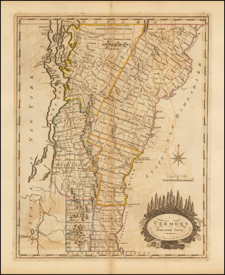 83-New England and Vermont Map By