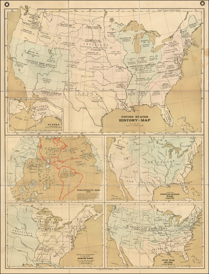 94-United States Map By G.W. Bacon & Co.