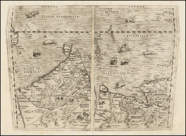 90-Indian Ocean, India, Other Islands, Central Asia & Caucasus and Middle East Map By Giovanni