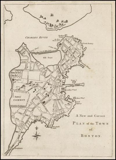 40-New England and Massachusetts Map By Gentleman's Magazine