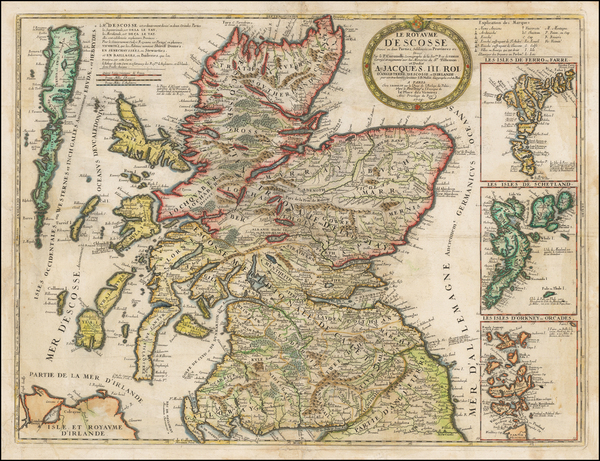 Scotland Map By Vincenzo Maria Coronelli / Jean-Baptiste Nolin