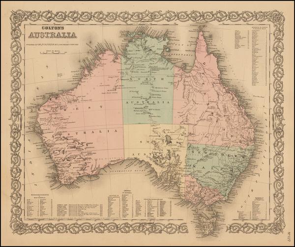 26-Australia Map By G.W.  & C.B. Colton