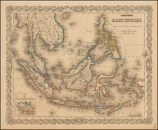 91-Southeast Asia, Philippines and Other Pacific Islands Map By G.W.  & C.B. Colton