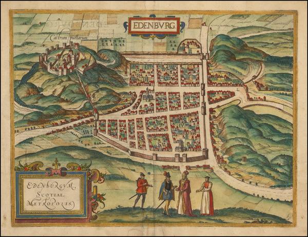 91-Scotland Map By Georg Braun  &  Frans Hogenberg