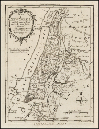 72-New York City and Mid-Atlantic Map By Thomas Kitchin