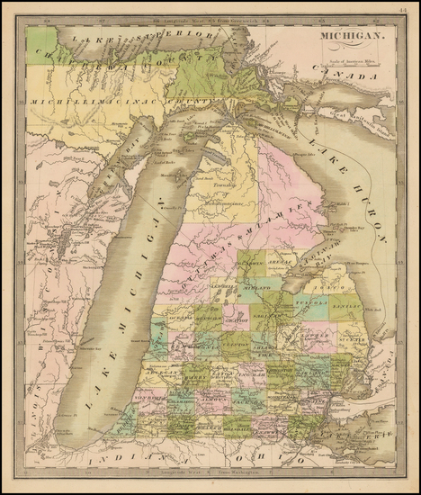 39-Midwest and Michigan Map By Jeremiah Greenleaf