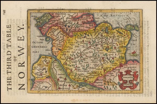 4-Germany and Scandinavia Map By Henricus Hondius - Gerhard Mercator