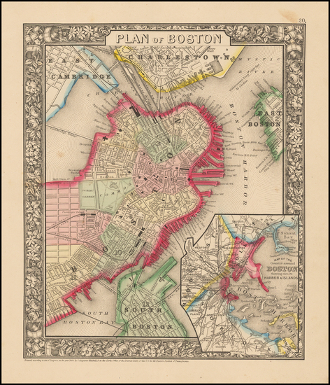 41-New England Map By Samuel Augustus Mitchell Jr.