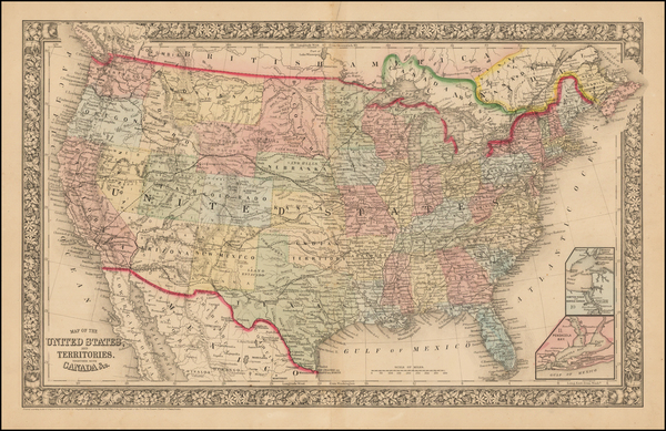 26-United States Map By Samuel Augustus Mitchell Jr.