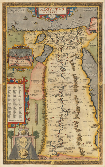 86-Egypt Map By Abraham Ortelius