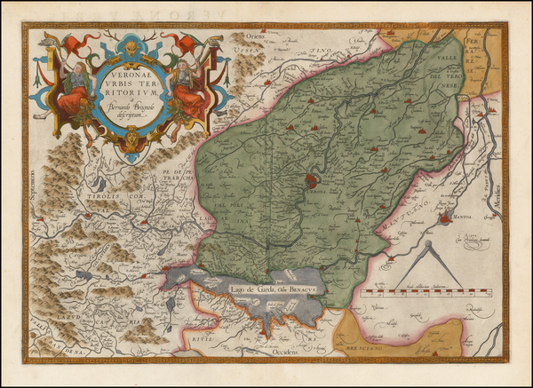 60-Northern Italy Map By Abraham Ortelius