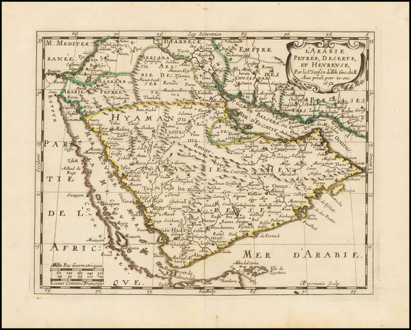 17-Middle East and Arabian Peninsula Map By Nicolas Sanson