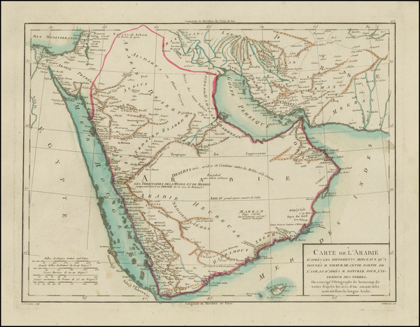 10-Middle East and Arabian Peninsula Map By Pierre Antoine Tardieu