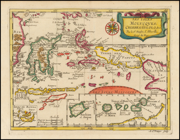 10-Southeast Asia, Indonesia and Other Islands Map By Nicolas Sanson