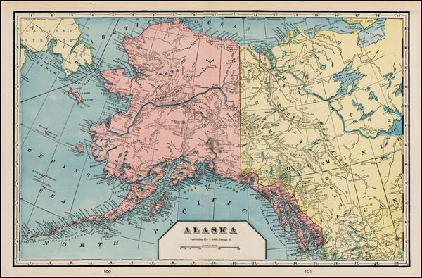 85-Alaska Map By George F. Cram