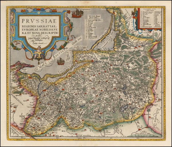 6-Germany, Poland and Baltic Countries Map By Abraham Ortelius