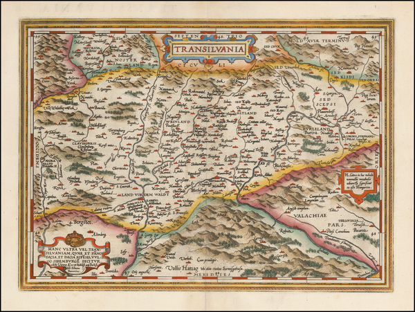 74-Romania and Balkans Map By Abraham Ortelius
