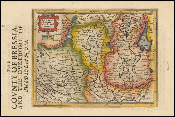 40-Italy and Northern Italy Map By Jodocus Hondius - Gerhard Mercator