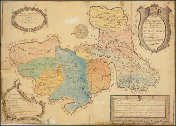 21-Mexico Map By Juan Antonio de Evia
