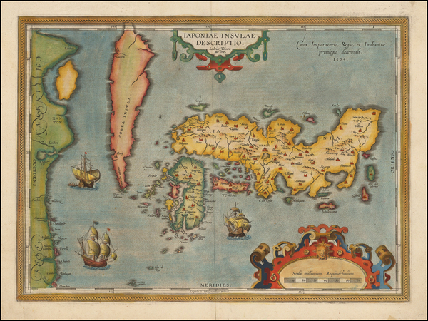 99-Japan and Korea Map By Abraham Ortelius