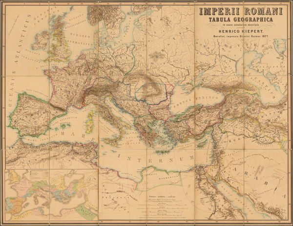 80-Europe, Europe, Italy, Mediterranean, Middle East and Turkey & Asia Minor Map By Heinrich K