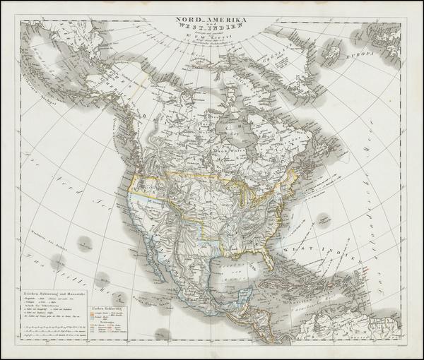 79-North America Map By Dr. F.W. Streit