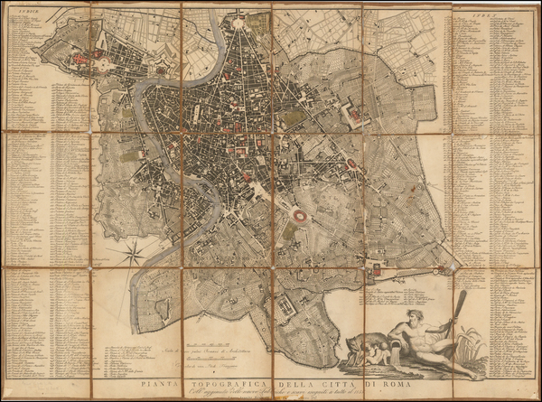 14-Rome Map By Pietro Ruga