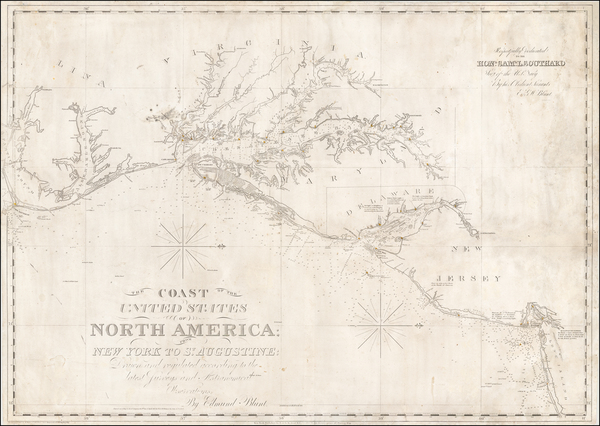 Mid-Atlantic and Southeast Map By Edmund M. Blunt