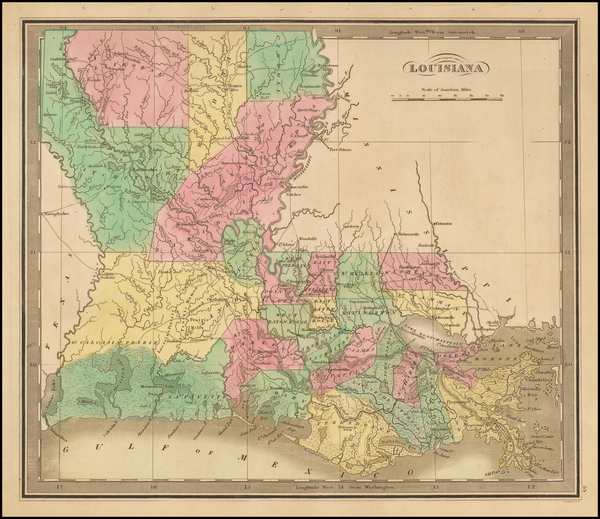14-South and Louisiana Map By Jeremiah Greenleaf