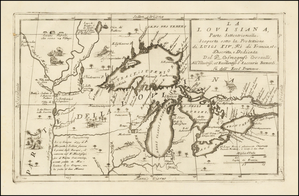 20-Midwest and Canada Map By Vincenzo Maria Coronelli