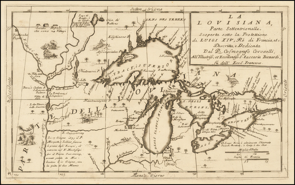 70-Midwest and Canada Map By Vincenzo Maria Coronelli