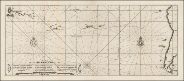 Pacific and Oceania Map By Jacob Le Maire / Antonio de Herrera y Tordesillas