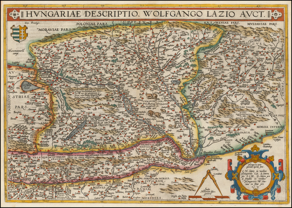 70-Austria, Hungary, Romania and Balkans Map By Abraham Ortelius
