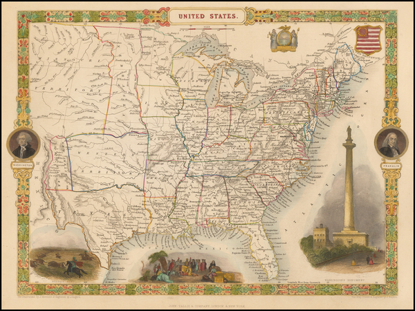 9-United States Map By John Tallis