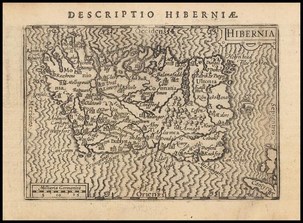 65-Ireland Map By Petrus Bertius