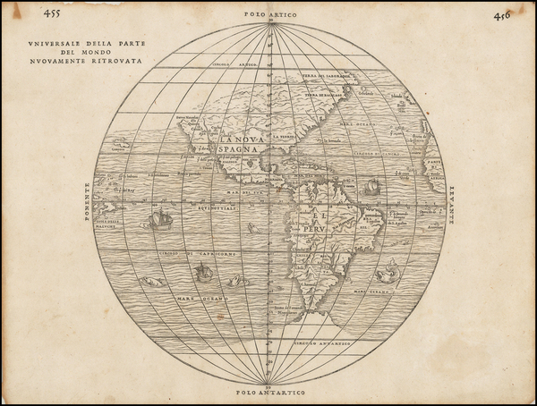 58-Western Hemisphere, Southwest, South America, California and America Map By Giovanni Battista R