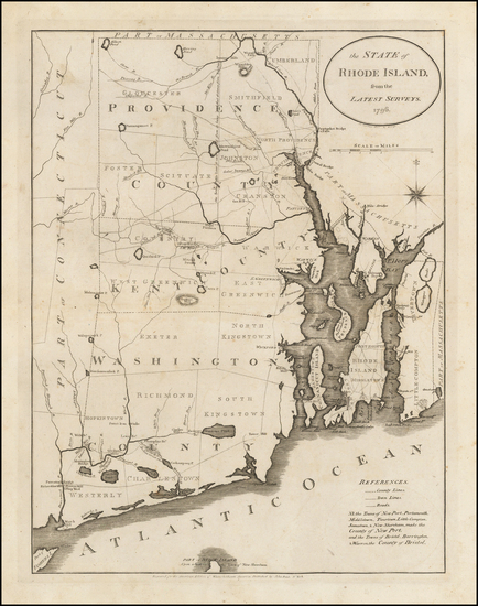 48-New England and Rhode Island Map By John Reid