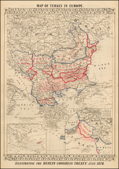 49-Austria, Ukraine, Romania, Balkans, Greece and Turkey Map By Samuel Augustus Mitchell Jr.