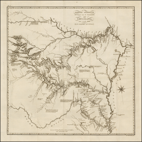45-South, Louisiana, Arkansas, Texas, Plains, Kansas and Oklahoma & Indian Territory Map By Ze